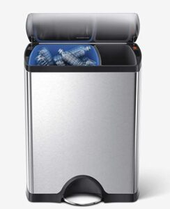 simplehuman 12.2 gallon stainless steel trash can