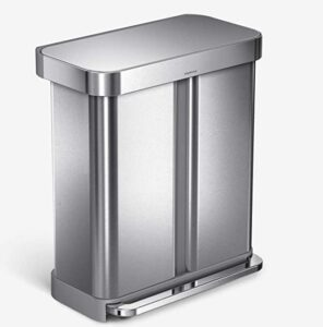15 gallon double compartment garbage can for home
