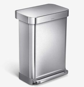Simplehuman 15 gallon garbage can with foot pedal