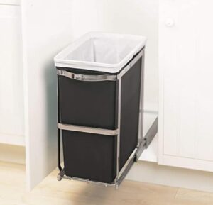 pull out trash bin with 8 gallon capacity for kitchen