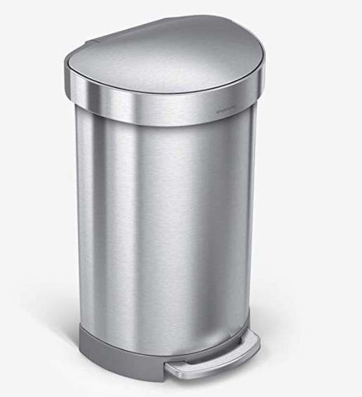 simplehuman 12 gallon stainless steel step trash can