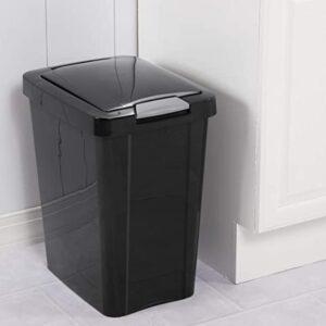 8 gallon plastic touch top trash bin