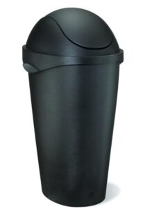 12 gallon plastic garbage can with swing lid