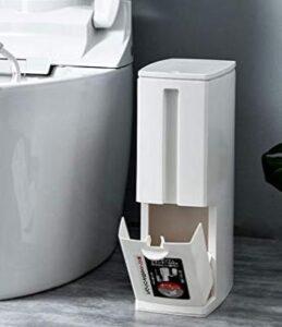 plastic bathroom trash bin with lid