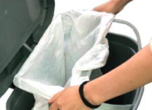 GLAD GLD 74030 garbage bin with bag ring