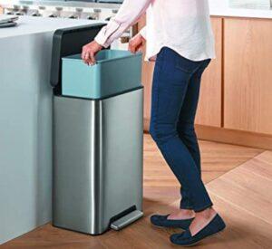 Kohler K-20940-ST garbage can with step lid