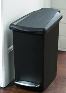 2.6 gallon step on garbage can for bathroom