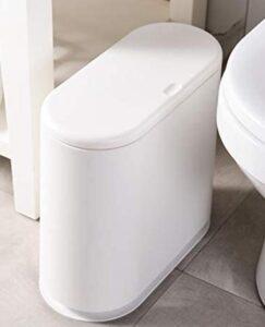 bathroom trash bin with lid