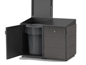best black kitchen trash can