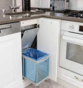 average kitchen trash can size