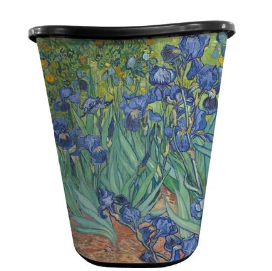 retro look painting garbage can