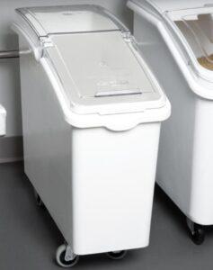 wheeled waste bin in kitchen